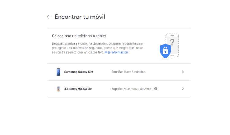 encontrar mi dispositivo de Google